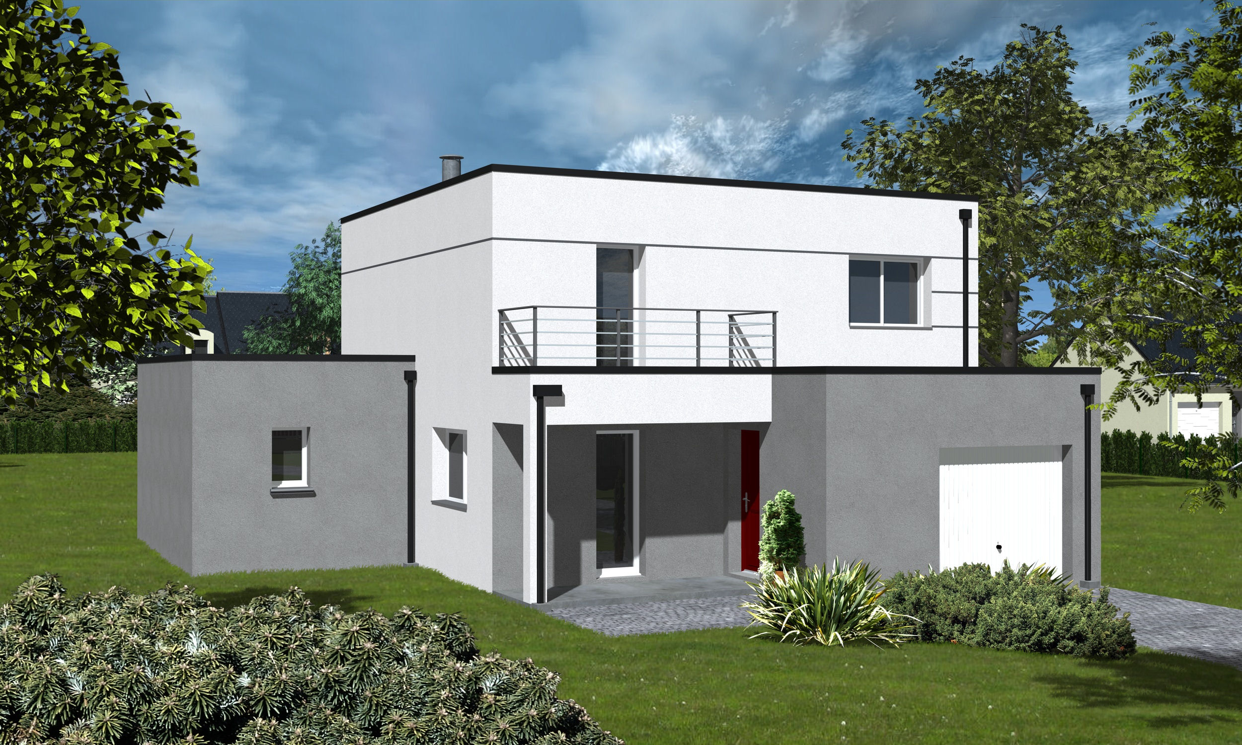 Plan Maison Moderne Sans Toit – Maison Moderne