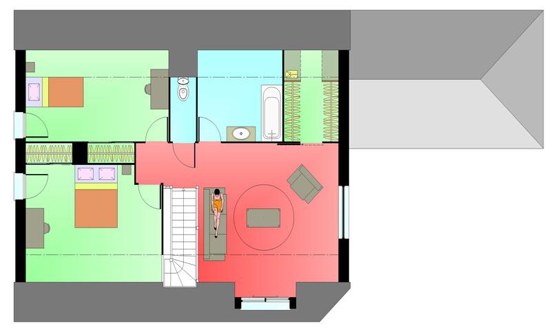 Plan étage maison ERICLOR